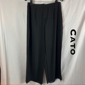 Cato Wide Leg Mesh Flowing Pants